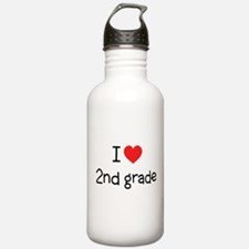 I Love 2nd Grade: Water Bottle