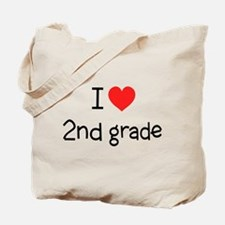 I Love 2nd Grade: Tote Bag