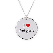 I Love 2nd Grade: Necklace