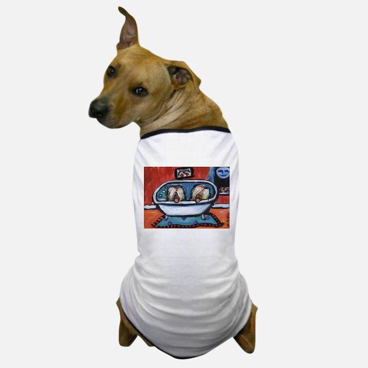 BRIARDS in bath Dog T-Shirt