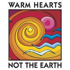 Warm Hearts, Not the Earth Framed Print