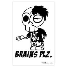 Zombie BRAINS PLZ Poster