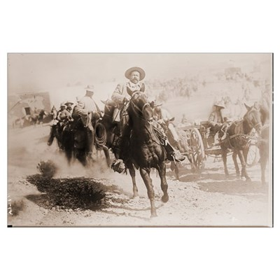 Pancho Villa Leading Battle Print Poster