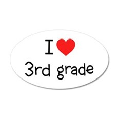 I Heart 3rd Grade: 22x14 Oval Wall Peel
