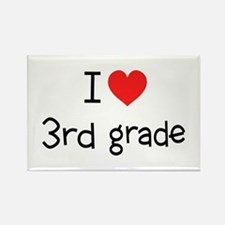 I Heart 3rd Grade: Rectangle Magnet