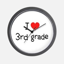 I Heart 3rd Grade: Wall Clock