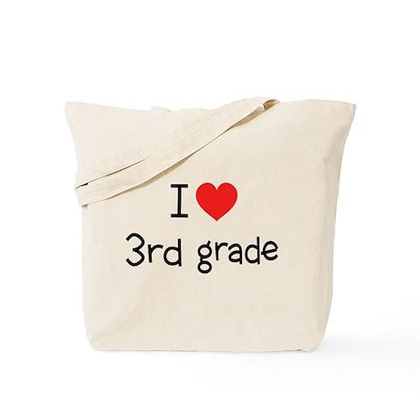 I Heart 3rd Grade: Tote Bag