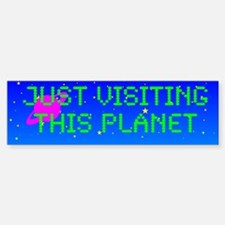 Just Visiting Bl. Car Car Sticker