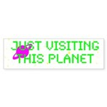 Just Visiting Wh. Sticker (Bumper 10 pk)