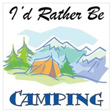 I'd Rather Be Camping Canvas Art