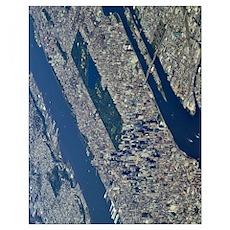 Aerial Midtown 11x14 Poster