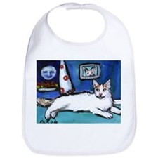 TURKISH VAN cat senses smilin Bib