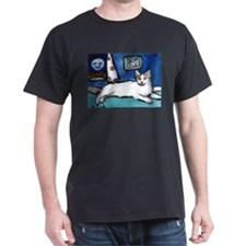 TURKISH VAN cat senses smilin Black T-Shirt