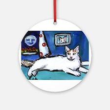 TURKISH VAN cat senses smilin Ornament (Round)