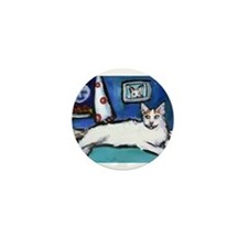 TURKISH VAN cat senses smilin Mini Button (10 pack