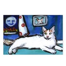 TURKISH VAN cat senses smilin Postcards (Package o