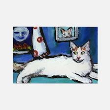 TURKISH VAN cat senses smilin Rectangle Magnet