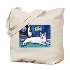 TURKISH VAN cat senses smilin Tote Bag