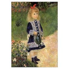 Renoir Girl w Watering Can Poster