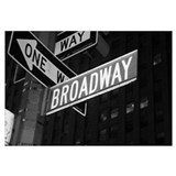 Broadway Wrapped Canvas Art