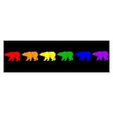 Rainbow Bearline Bumper Bumper Sticker