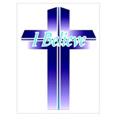 I Believe Cross Canvas Art