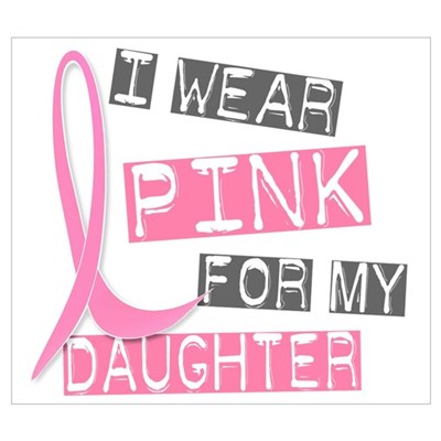 I Wear Pink For My Daughter 37 Framed Print