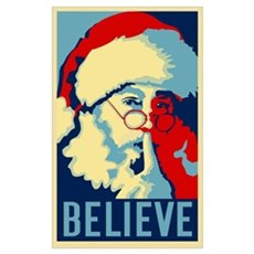 Graphic Santa Poster