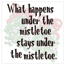 What happens... Mistletoe Canvas Art