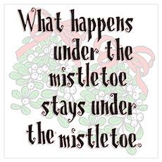 What happens... Mistletoe Poster