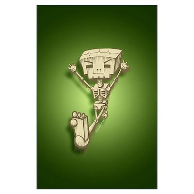 Mr. Bot Bones (Green) Poster