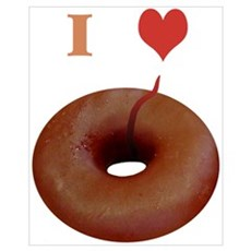"""""""I love donuts"""" Poster"""