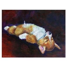 Pembroke Welsh Corgi Art Prin Canvas Art
