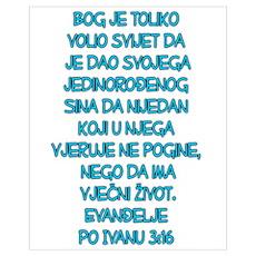John 3:16 Croatian Poster