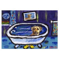 Rhodesian Ridgeback bath Canvas Art