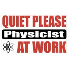 Physicist Work Poster
