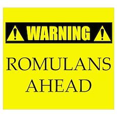 WARNING: Romulans Ahead Poster