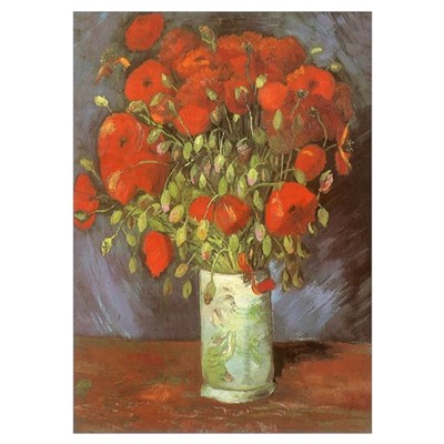 Van Gogh Red Poppies Poster