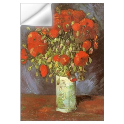 Van Gogh Red Poppies Wall Decal
