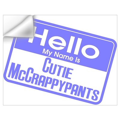 Blue - Hello Cutie McCrappypants Wall Decal