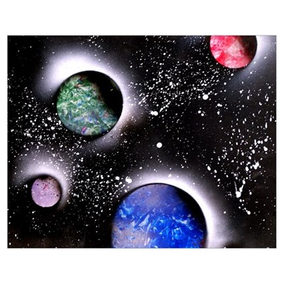 Outer Space Painting Poster
