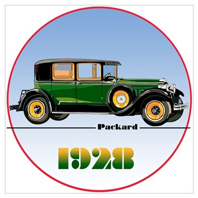 The 1928 Packard Poster