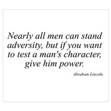 Abraham Lincoln quote 74 Poster