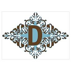 D Monogram Letter D Poster