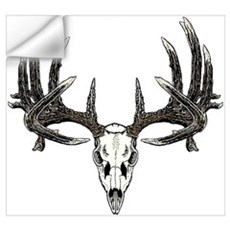 Whitetail deer skull Wall Decal