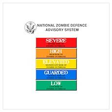 """Zombie Threat Level"" Poster"