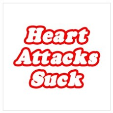 """Heart Attacks Suck"" Framed Print"