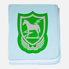 Cute 10th special forces group baby blanket