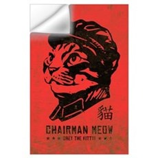 Chairman MEOW - Large Cat Propaganda Wall Decal