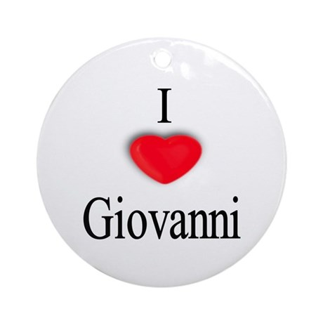 Giovanni Ornament (Round)